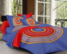 Checkout this latest Bedsheets_500-1000 Product Name: *Imperial Jaipuri Mandala Printed Double Bedsheet* Fabric: Bedsheet - Cotton  Pillow Covers - Cotton Dimension: ( L X W ) - Bedsheet - 90 in x 100 in Pillow Cover - 17 in x 27 in Description: It Has 1 Piece Of Double Bedsheet   2 Piece Of  Pillow Covers Work: Printed Thread Count: 160 Country of Origin: India Easy Returns Available In Case Of Any Issue   Catalog Rating: ★4.2 (2511)  Catalog Name: Cosmic Jaipuri Mandala Printed Double Bedsheets Vol 1 CatalogID_54718 C53-SC1101 Code: 334-497425-6501