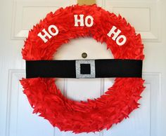 Santa Wreath Christmas Craft Tutorial