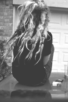 Mine almost look like this! only more braided dreads. Dread Hairstyles, Cool Hairstyles, Beautiful Dreadlocks, Pretty Dreads, Beautiful Braids, Gorgeous Hair, Freeform Dreads, Blonde Dreadlocks, Natural Dreads