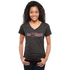 Arkansas State Red Wolves Women's Classic Wordmark Tri-Blend V-Neck T-Shirt - Black