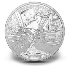 5 oz Fine Silver Coin - HMS Shannon & USS Chesapeake - Mintage: 1500 (2013). $499.95