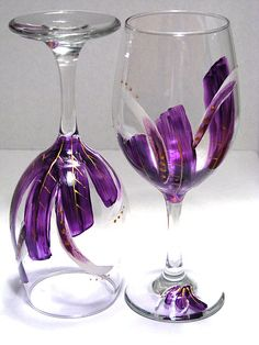 Whimsical purple feather design by prettymydrink, via Flickr