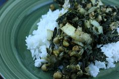 A Year of Slow Cooking: Indian Spinach and Tofu CrockPot Recipe / healthy / light / dinner