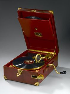Portable gramophone by H.M.V. about 1927