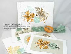 Spice Cake Card Ensemble by dostamping - Cards and Paper Crafts at Splitcoaststampers