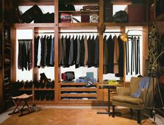 Stylish Gentleman's Closet ... a guy needs his clothes!