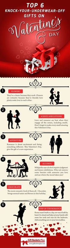 Infographic - 6 great Valentines Day Ideas