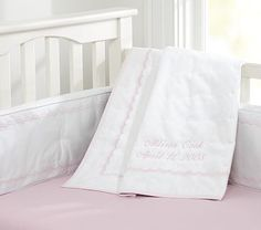 Scallop Pique Nursery Bedding on potterybarnkids.com