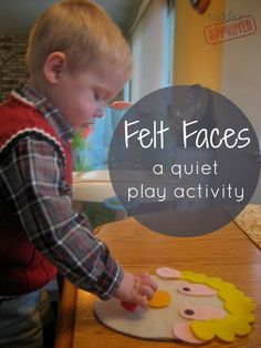 We are always looking for something to keep our little guy entertained and QUIET during church.    This Felt Faces activity is fun, silly...