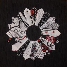 Another beautiful black, white & red block.