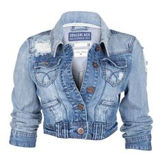 I want this jean jacket!!!  Soul Cal Deluxe Vintage Denim Jacket ($56) found on Polyvore