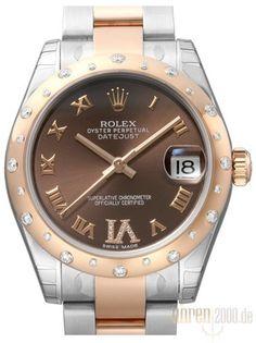 Rolex Datejust 31 Edelstahl Roségold 178341 Diamant Lünette Choco R DIA