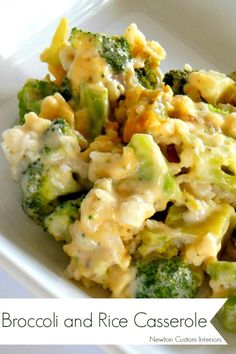 Broccoli and Rice Casserole from NewtonCustomInteriors.com #broccoliandricecasserole