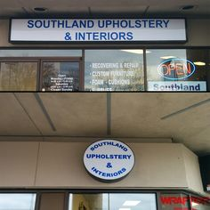 Check out this new Sign Faces we did for Southland Upholstery & Interiors Exterior Signage, Interior And Exterior, Pylon Sign, Channel Letters, Window Graphics, Business Signs, Foam Cushions, Car Wrap, New Sign