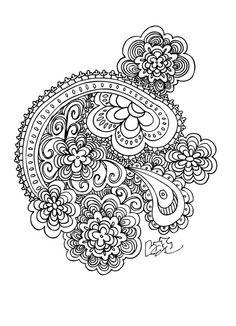 Henna Paisley Parade Art Print by LizN   Society6
