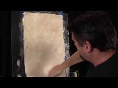 Old world wall faux painting techniques for walls - Textured plaster with stencil & antiquing glaze - YouTube