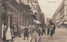 rue de Belleville - Paris 19ème/20ème La rue de Belleville vers 1900. Ne bougeons plus !
