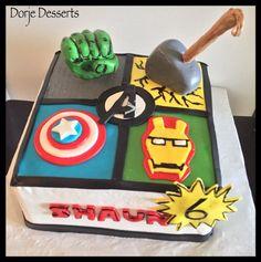 Avengers - Cake by Dorje Desserts