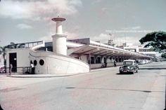 escada para subir ao deck de observacao do aeroporto de congonhas antigamente…