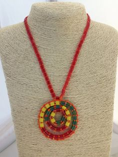 Beaded Necklace. Beadwork Art.Beadweaving Jewelry with Tila Beads and Swarovski Crystals.Colorful Necklace.Woven Necklace,FREE SHIPPING