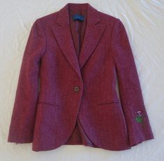 ~ BALMAIN TWEED EMBROIDERED SLEEVE BLAZER  JACKET (OH SO SPECIAL!) 40 #BALMAIN #jacket