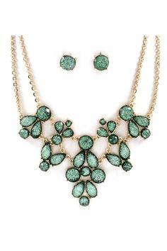 Rivierra Necklace in Verdant Shimmer