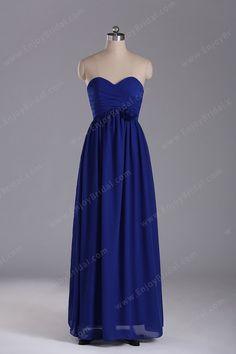 A-line Sweetheart Sleeveless Floor-length Elegant Chiffon Flower Prom Dress 2013$118.00