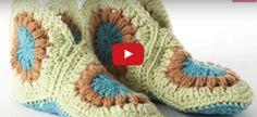 How to Crochet Slippers: Granny Slippers - Harika Ev İşleri