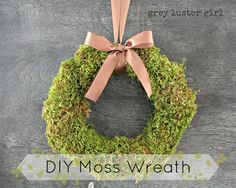 DIY Moss : DIY Moss Wreath