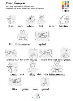 färger-arkiv - Tecken som stöd - Toppbloggare på Womsa Sign Language, Preschool, Teaching, Education, Image, Music, Communication, Photo Illustration, Learning