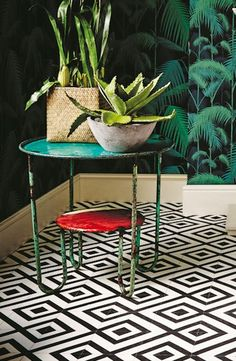 Vinyl Floor Fashions and trends - Whats Hot In Vinyl Flooring? And why it is a great alternative and stylish floor covering. Vinyl Flooring Bathroom, Vinyl Sheet Flooring, Luxury Vinyl Tile Flooring, Vinyl Tiles, Basement Flooring, Wooden Flooring, Kitchen Flooring, Retro Vinyl Flooring, Bathroom Vinyl