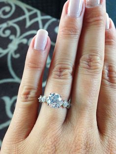 7 Real Girls With the Prettiest Engagement Rings via @WhoWhatWear