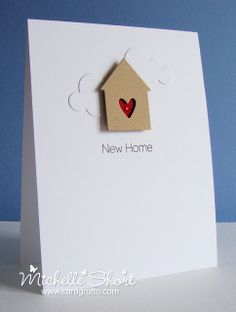 The Card Grotto: New Home - love the simplicity of this card ... going to have a go with my silhouette