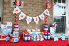 Today's feature from our carnival party - the prize area.    This was one of my favorite parts of the party! (As if all if it wasn't!) As ...