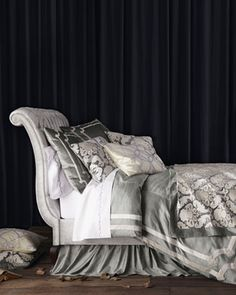 """""""Versailles"""" Bed Linens at Horchow. Beautiful. Extremely pricey. Love the duvet, euros and bed skirt.  Duvet $580. Euros $240 ea x 3. King shams $240 ea x 2. Bed skirt $308.  All these are sale prices"""