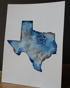 Dallas Cowboys Original Watercolor Painting on Etsy, $16.00