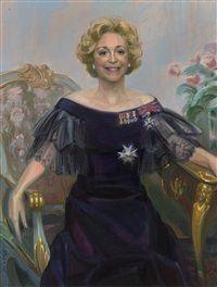 Portrett av Wenche Foss by Jan Thomas Njerve