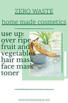 How to make a hair mask and face mask from over ripe fruit and veg to pamper your skin with clean and natural cosmetics, including a refreshing skin toner, exfoliator and moisturising mask Skin Toner, Facial Toner, Best Diy Hair Mask, Avocado Hair Mask, Hair Mask For Damaged Hair, Ripe Fruit, Spa Day At Home, Wellness, Green Cleaning