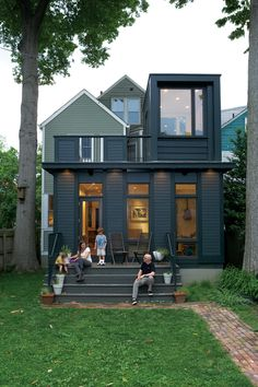 Modernist addition on an old Victorian house, the architect did an amazing job blending both worlds!