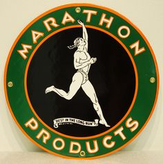 Marathon Products reproduction sign for your #vintage sign collection! Shop now at www.gaspumpheaven.com!
