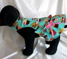 Cupcake Dog Dress Pink Dog Clothes Puppy Yorkie by miascloset
