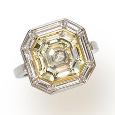 yellow diamond and white diamond ring Halo Diamond Engagement Ring, Diamond Wedding Rings, Engagement Rings, Canary Yellow Diamonds, Colored Diamonds, White Diamond Ring, Diamond Rings, Vintage Rings, Vintage Jewelry