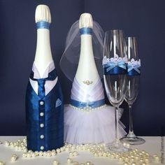 Купить Жених и Невеста - свадебные аксессуары, свадьба, свадебные бокалы, свадебные бутылки, Бокалы