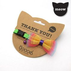 """GOOOD Pet Collars designs and makes """"GOOOD-looking"""" collars to raise food for animals. get some yourself some pawtastic adorable cat apparel! Dog Accesories, Pet Accessories, Pet Shop, Online Pet Store, Pet Boutique, Packaging Design, Clever Packaging, Creation Couture, Cat Party"""