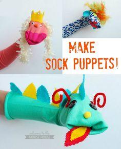 Super cute sock puppets
