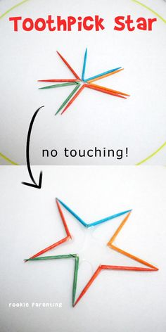 No-Touch Toothpick Star #WaterScience #STEM #rookieparentingscience
