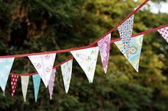 Un precioso banderín casero / A lovely home-made pennant banner