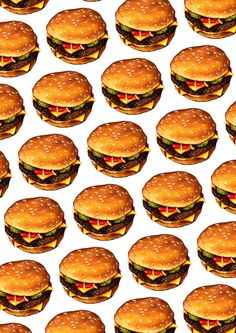 Cheeseburger Pattern 2 T-shirt by Kelly Gilleran - Black - LARGE - Mens Fitted Tee Pop Art Wallpaper, Food Wallpaper, Kawaii Wallpaper, Pattern Wallpaper, Food Patterns, Textures Patterns, Comida Pizza, Food Backgrounds, Wallpaper Backgrounds