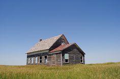 Not exactly a barn but . . . One room schoolhouse on the mirage flats in the Nebraska Sandhills. Photo by Matt Steinhausen.