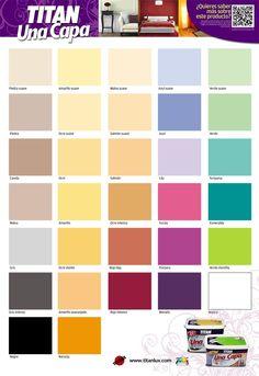 Carta de colores colores del mundo bruguer paleta de colores pinterest - Paleta de colores pared ...